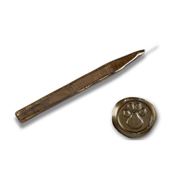 King's Jumbo Traditional Sealing Wax with wick - Chocolate Pearl
