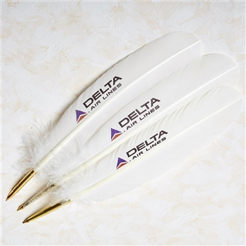 Personalized Feather Quill Ballpoint Pen with Custom Logo