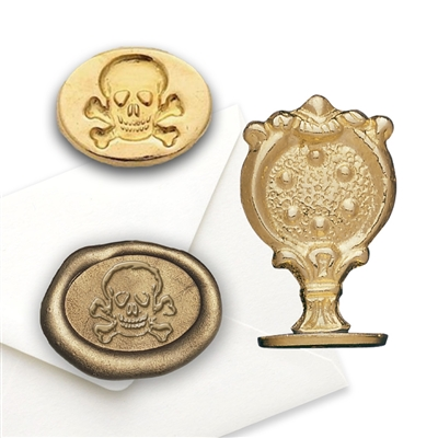 Wax Seal Skull & Crossbones- Brass handle Stamp