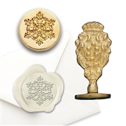 Christmas Wax Seal Snowflake - Brass Handle Stamp