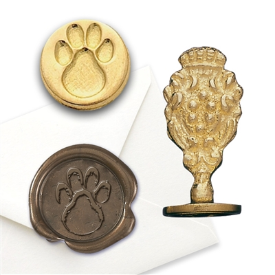 Wax Seal  Paw Print - Brass Handle Stamp