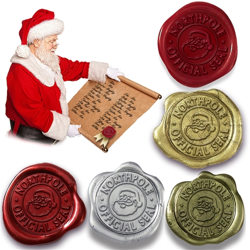Northpole Official Christmas Seal Wax Seal Sticker-50PK-choice of color