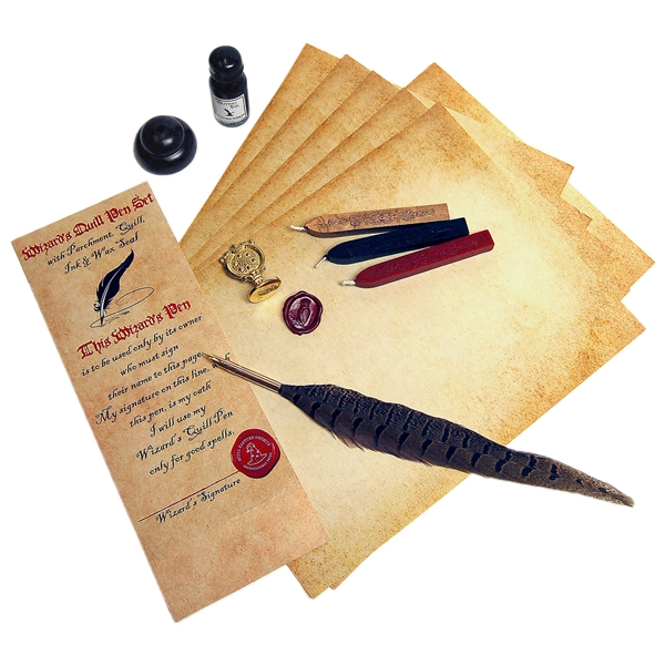 Harry Potter Style Quill Amp Ink Writing Bundle With Owl