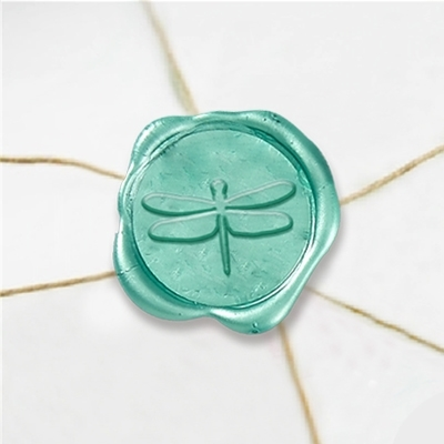"Wax Seal Stickers-50PK- 1""- Dragonfly"