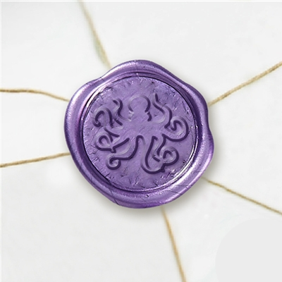 "Wax Seal Stickers-50 Stickers-50PK- 1""-Octopus"