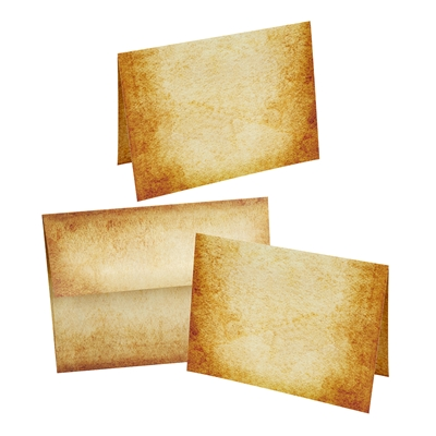 Aged Parchment  Note Card Set with Envelopes 10/10