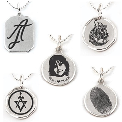 Create Your Own Sterling Silver Charm  with your Artwork