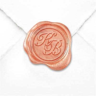"Self Adhesive  Wax Seals Bundle- 1 1/4""  Intertwined Monogram-2 letters"