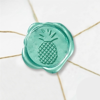 "Wax Seal Stickers-50 Stickers-50PK- 1""- Pineapple"