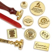 Custom  Wax Seal  Stamp with-Your Logo  or  Design with Handle