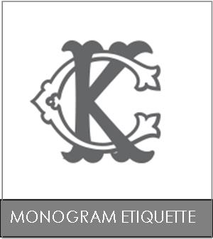Monogram Etiquette for Engraving Custom Wax Seals