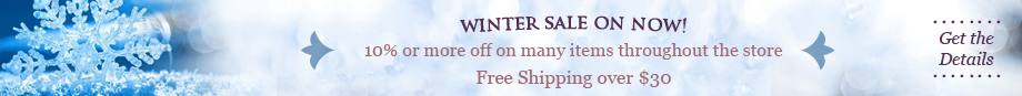 Winter Sale-Discounts &  Free Shipping on Orders over $30 !
