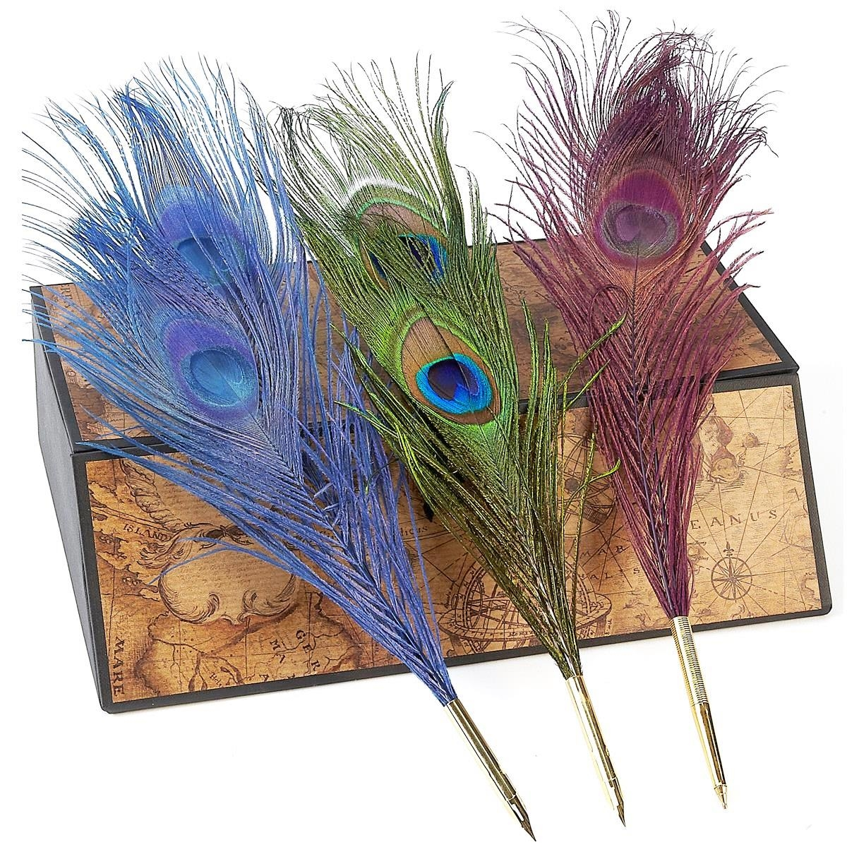 Peacock Feather Quill Nib Pens