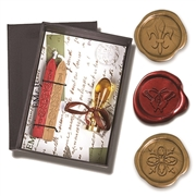 Wax Seal Kit-Murano Glass Handle with popular symbol die