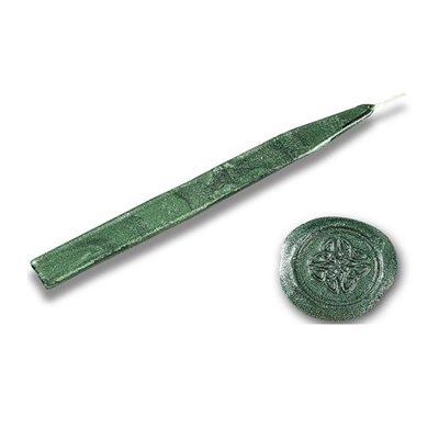 King's Jumbo Traditional Sealing Wax with wick - Metallic Green