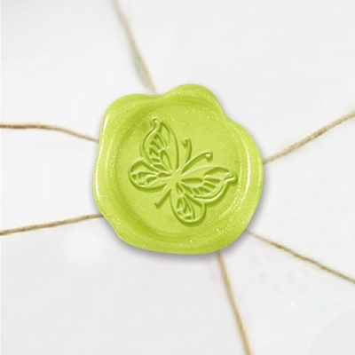 Butterfly Wax Seal Stickers-50PK- 1""