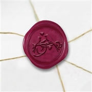 Love Birds Wax Seal Stickers-50PK- 1""