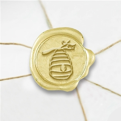 Honeycomb Wax Seal Stickers-50PK- 1""