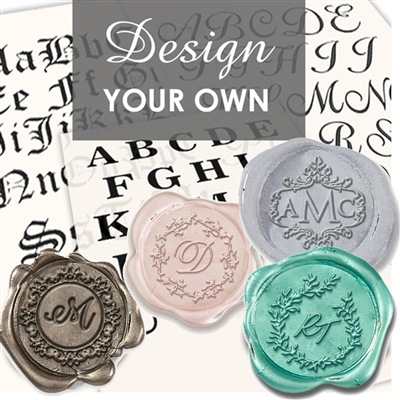 Monogram Maker Custom Wax Seal Stickers 50PK- 1 1/4""