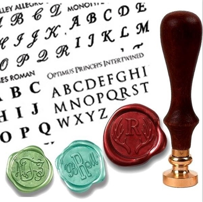 Create Your Own Custom Monogram Wax Seal  Stamp