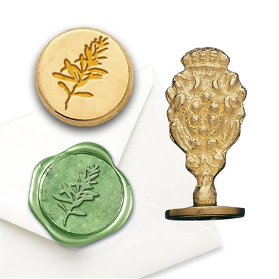 Wax Seal Rosemary-Brass Handle Stamp