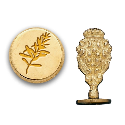 Rosemary Brass Wax Seal Stamp