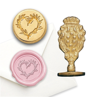 Wax Seal Branch Heart-Brass Handle Stamp