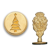 Christmas Tree Brass Wax Seal Stamp