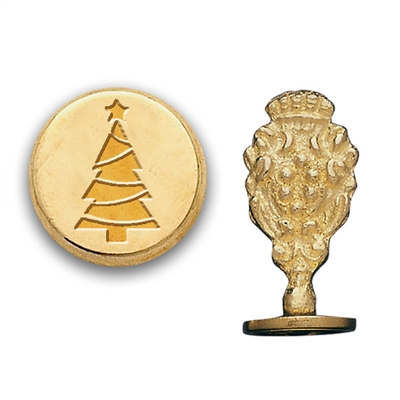 Wax Seal Christmas Tree-Brass Handle Stamp