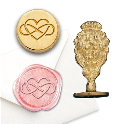 Infinity Heart Brass Wax Seal Stamp