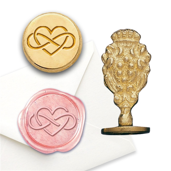 Wax Seal Infinity Heart-Brass Handle Stamp