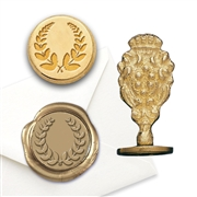 Laurel Wreath Brass Wax Seal Stamp