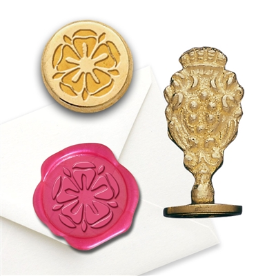 Wax Seal Tudor Rose-Brass Handle Stamp