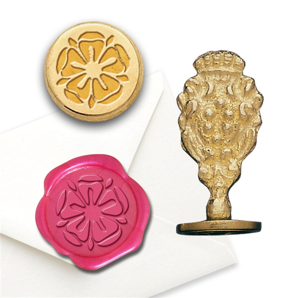 Tudor Rose Brass Wax Seal Stamp