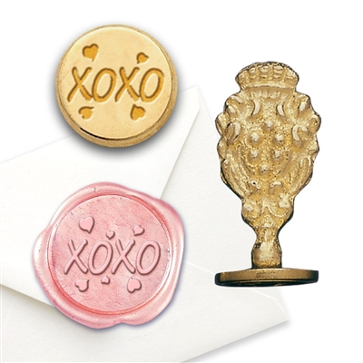 Wax Seal XOXO-Brass Handle Stamp