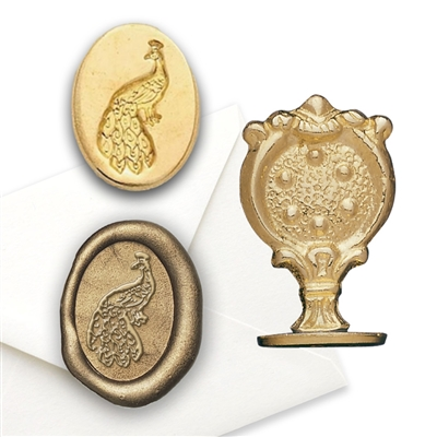 Peacock Brass Wax Seal Stamp