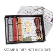 Collection Wax Seal Kit with Sealing Wax only & Space for Wood Handle & 3 Dies