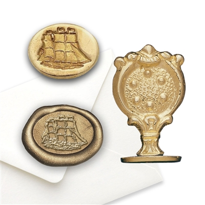 Wax Seal Clipper Ship-Brass Handle Stamp