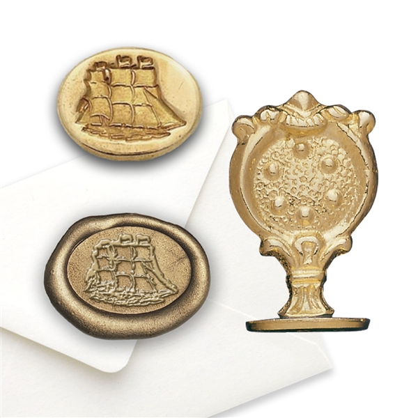 Clipper Ship Brass Wax Seal  Stamp