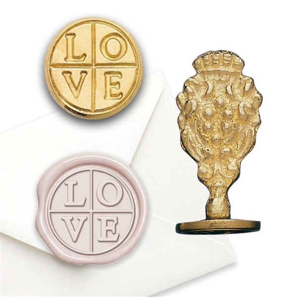 Love Cross - Brass Wax Stamp