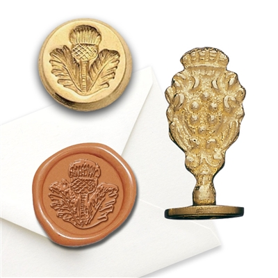 Scottish Thistle Brass Wax Stamp