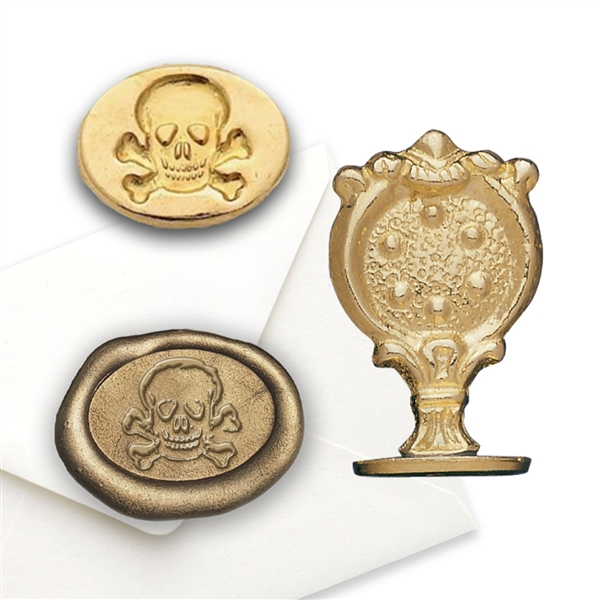 Skull & Crossbones Brass Wax Seal Stamp