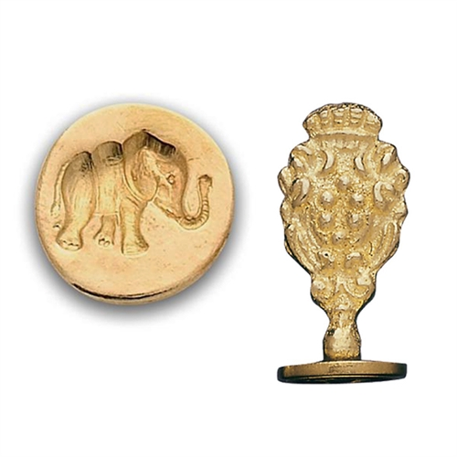 Elephant Brass Wax Stamp