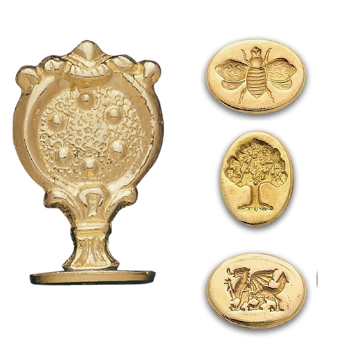 "Brass Wax Seal Stamp with 3/4"" impressions[  - oval designs"