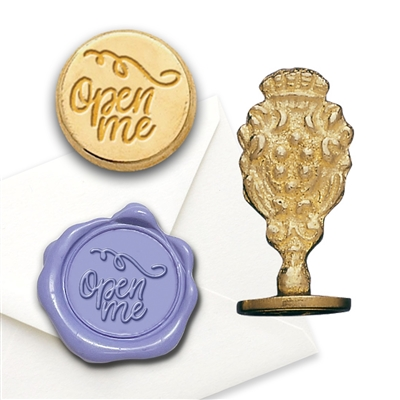 Wax Seal Stamp Brass- round popular symbols