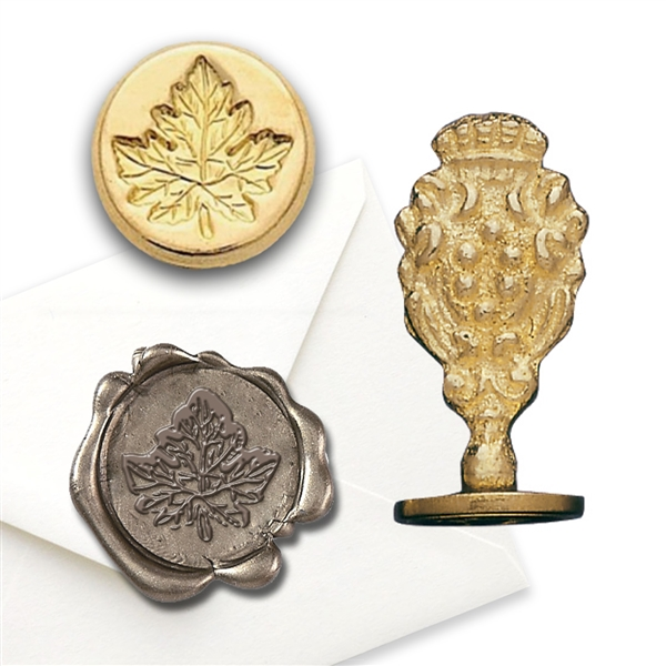 Fall Maple Leaf Brass Wax Stamp