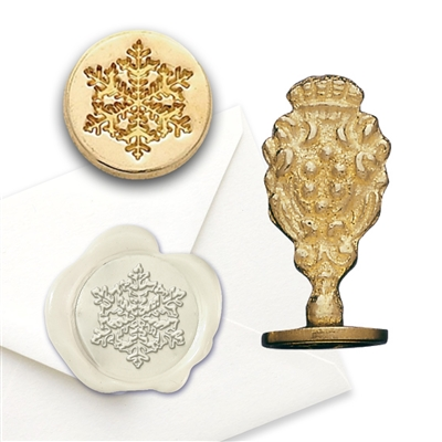 Snowflake Brass Wax Stamp