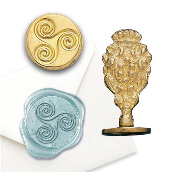 Wedding Wax Seal Eternity - Brass Handle Stamp