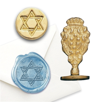 Star of David Brass Wax Seal Stamp