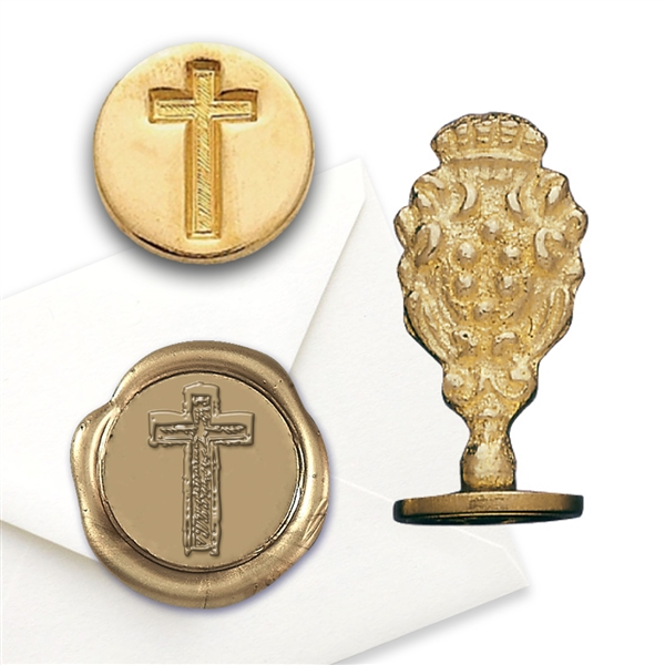 Cross Brass Wax Stamp